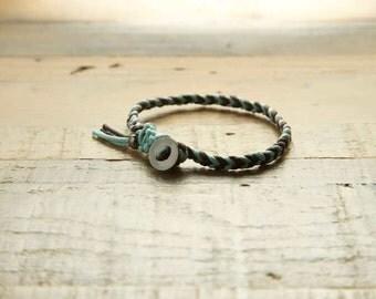 Cotton Wax Braided Bracelet