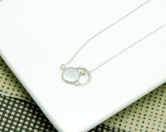 Circles 925 sterling silver necklace