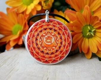 Swadhisthana Chakra Polymer Clay Necklace