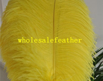 100 pcs 18-20inch yellow ostrich feather plumes for wedding centerpieces wedding decor party event supply