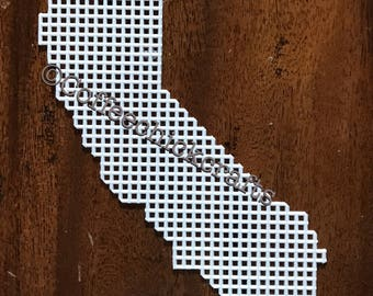 California Plastic Canvas Shape United States  Plastic Canvas California Needlepoint California Cutout