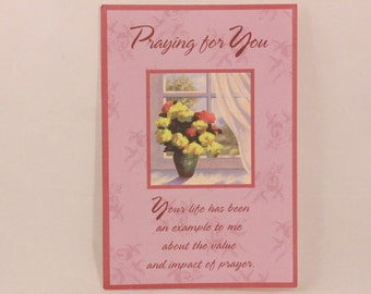 NEW! Vintage Praying for You by Dayspring Single Greeting Card with Envelope.