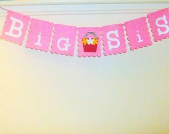 Big Sis Banner, Big Sister,  Sister, Family, Sister Banner, Sister Decoration, Sister Sign