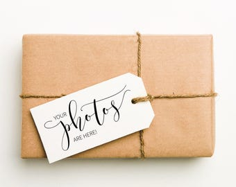 Your Photos Are Here Stamp, Photos Enclosed, Photographer Stamp, Wedding Photographer Stamp, Photo Package, Packaging Stamp (SMAIL501 - S.3)