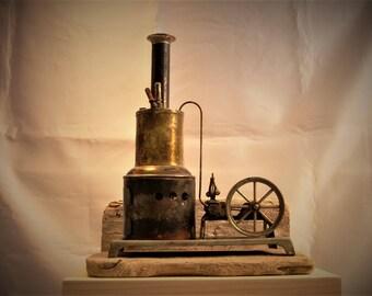Antique Toy Steam Engine 1920's - 1930's