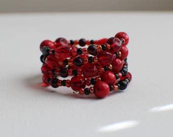 Lava King- Coil Bracelet