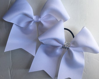 Softball Bows/White Softball Bows/ White Cheer Bows/White Soccer Bows/White Volleyball Bows/White Solid Color Bows