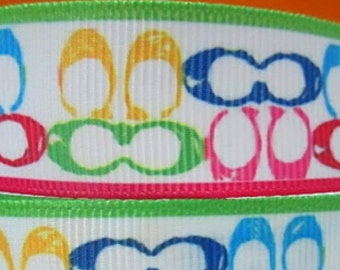 "Colorful Designers Ribbon 7/8"" Grosgrain Ribbon 22 mm"