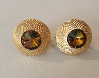 Golden Anson Topaz Cuff links – designer marked