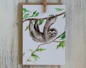 Hanging Sloth Greeting Card