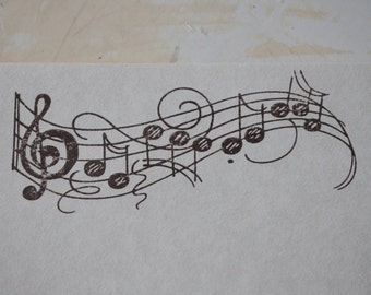 Music Stationery, Letter Writing Set, Stamped Stationery, Music Gift, Writing Paper, Stationery Set, Music Stamp, Piano Gift, Guitar Gift