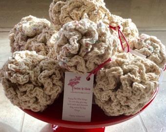 Handmade Crochet 100% Cotton Loofah Poof Bath Puff Cotton Pouf