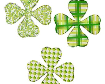 Sale!!! Happy Shamrock-Set of 3/Wreath Supplies/Saint Patrick's Day Decor/V8102-2