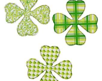 Sale!!! Happy Shamrock-Set of 3/Wreath Supplies/Saint Patrick's Day Decor/V8102-2