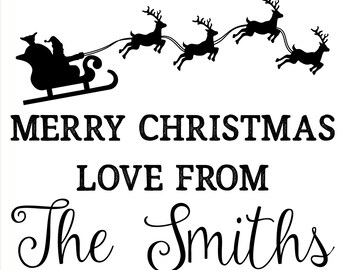 Merry Christmas Love from the Smiths at https://www.etsy.com/search?q=laser+cut+sleigh