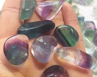 Small Tumbled Rainbow Fluorite