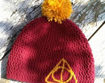 Gryffindor Deathly Hallows Hat
