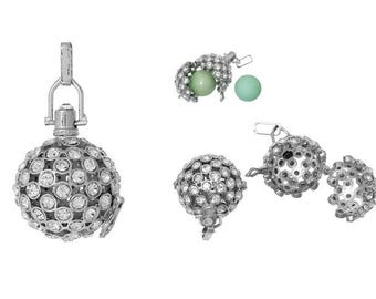 Cage adorned with Rhinestones for creation of 20mm pregnancy bolas