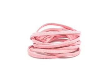 10 m 3mm pink Pastel suede
