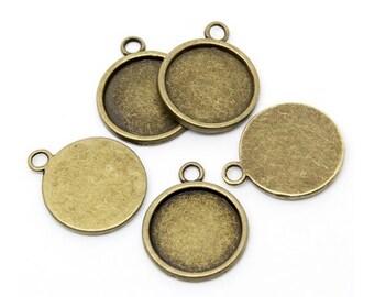 20 Bronze for 18mm Cabochon pendants