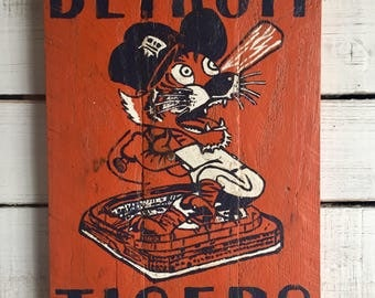 Hand Painted Detroit Tigers Sign