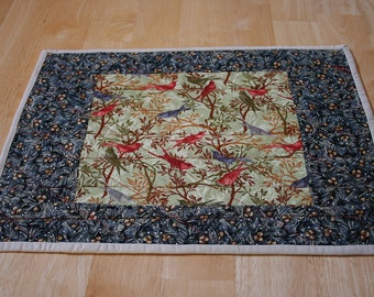 Placemats (4) --Birds Singing and Red And Green Holly--Reversible--Includes Shipping