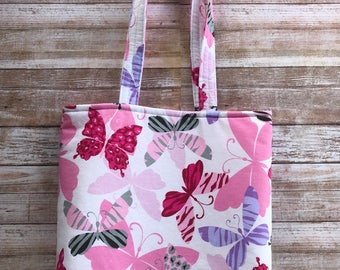 Butterfly Small Tote - Fabric Tote