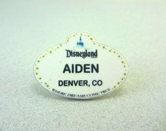 Customized Disneyland Name Tag, Disneyland Lapel Pin, Disneyland Badge, Disneyland Button