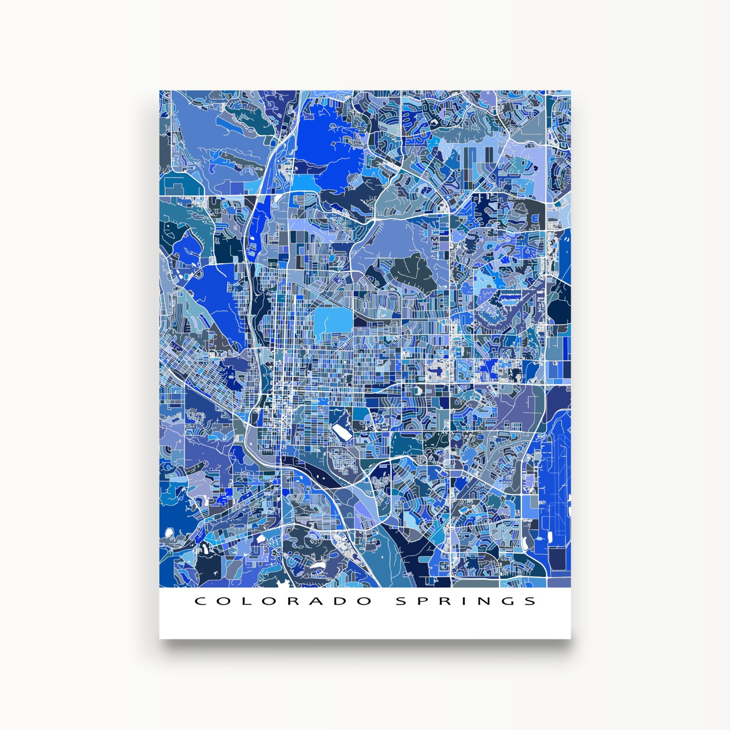 It is a photo of Clean Printable Map of Colorado