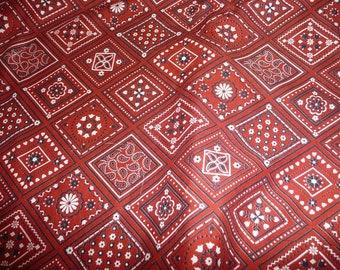 1 Yard 32 Inches VIP Cranston Cotton Red Bandana Print Fabric