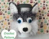 Crochet Dog Pattern - Amigurumi Husky - Husky Crochet Pattern - Crochet Animal Pattern - Amigurumi Dog Pattern - Dog Crochet Pattern