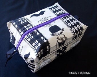 Gentleman's toiletry bag. Handmade. Moisture resistant travel bag.