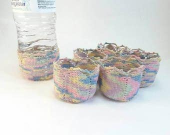 Vintage hand crocheted drink cozies set of 6