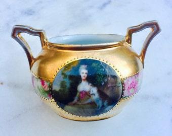 Limoges Gainsborough Rococo Gold Trinket Dish