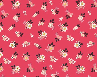 1 Yard Vintage Daydream by Design by Dani for Riley Blake Designs-5563 Red Floral