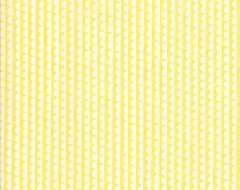 1 Yard Bonnie and Camille Basics by Moda -55037-30 Ruby Scallop Yellow