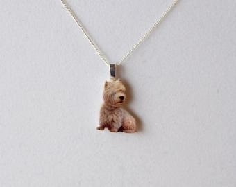 West Highland Terrier Westie Fine Detail Sterling Silver 925 Necklace