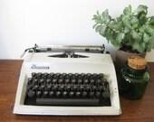 Working Typewriter Adler Contessa Vintage Portable Off White 1972