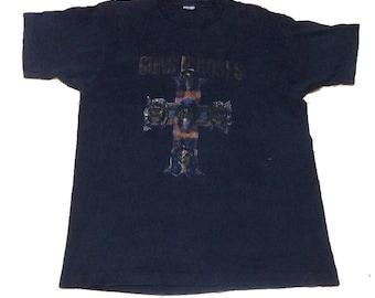 Rare Vintage Guns N Roses World Tour Concert Appetite For Destruction 1987 T-Shirt Axl Rose Slash Duff McKagan Dizzy Reed Richard Fortus