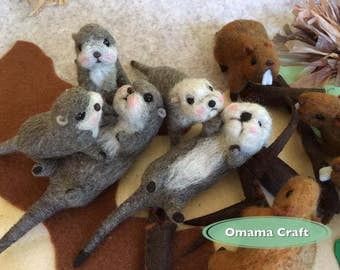 Needle Felt Animals - Otter