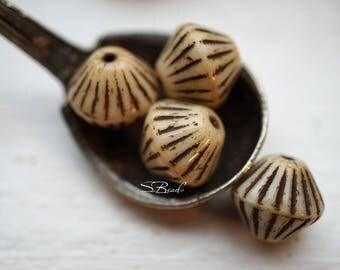 Perse Bicone, Czech Beads, Beads