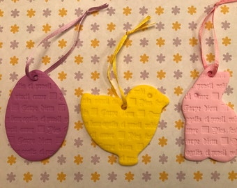 Set of 3 Easter Ornaments