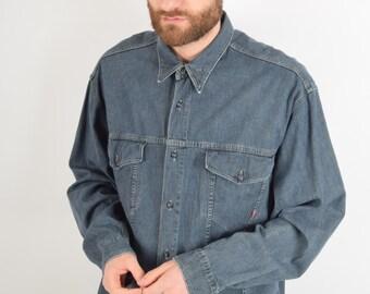 Vintage Joop Denim Shirt Size L (1987)
