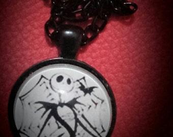 Jack skellington medallion necklace