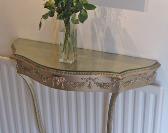Continental Style Giltwood Console Table by Atsonea