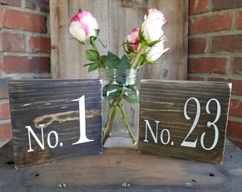 Wedding Table Numbers. Rustic wedding, rustic signs, wedding number signs, rustic table numbers, rustic centerpiece, wedding sign sets