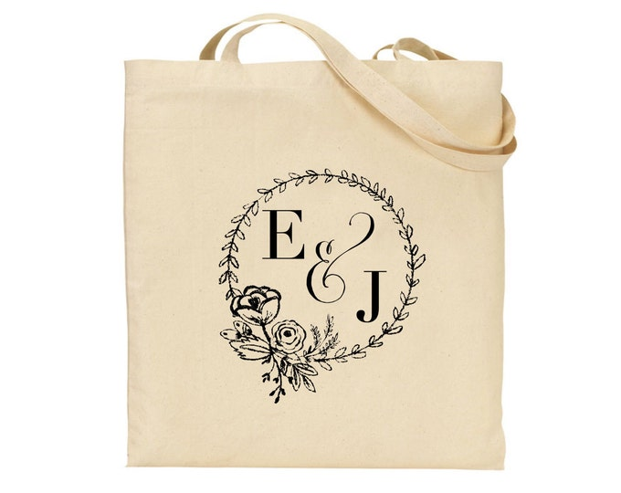 Personalised Tote Bag | Wedding bag | Bridal bag | Bride's tote | Flower girl | Gift bag | Available in any colour.