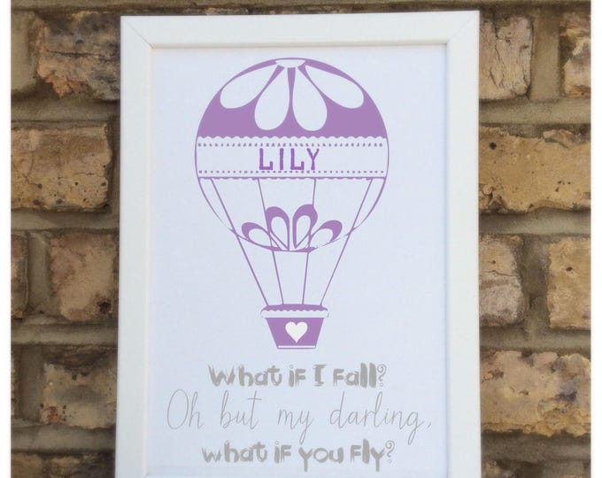 Personalised quote print | Children's quote | Nursery decor | Children's quote