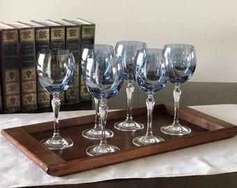 Wine Goblet Bijoux Iridescent Blue by Colony
