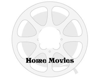 Custom Printed Back-Up DVD Blank Home Movies Reel